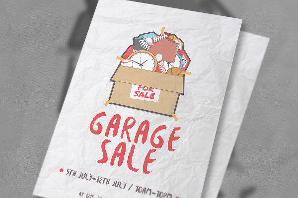Clean Garage Sale Vector Flyer Template