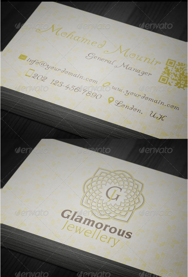 Glamorous Jewelry Gallery Business Card
