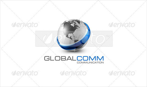 Perfect Global Communication Logo Template
