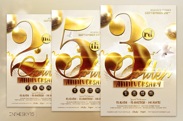 Golden Anniversary Promotion Flyer Template