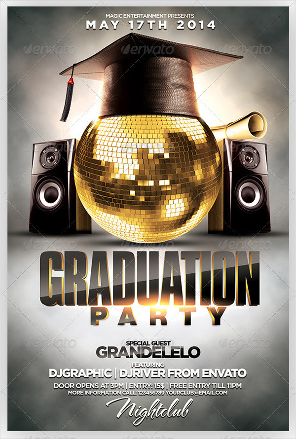 Perfect Graduation Party Celebration Flyer Template