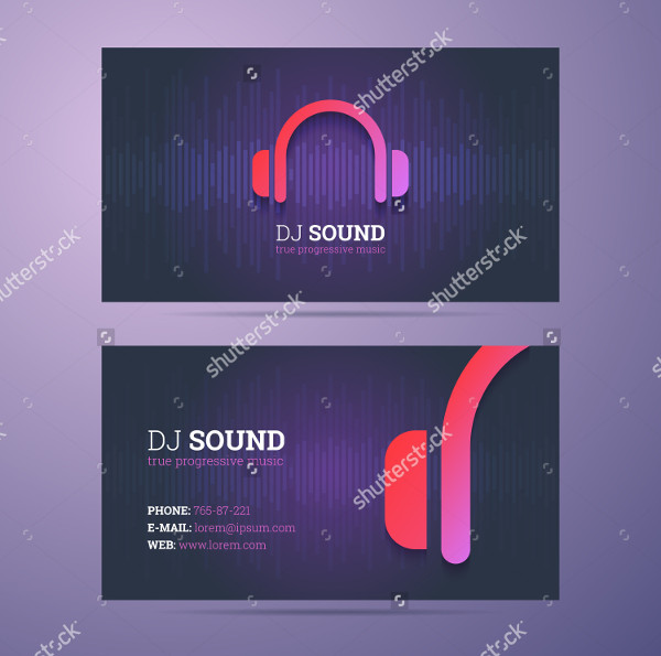 Clean DJ Sound Business Card Template