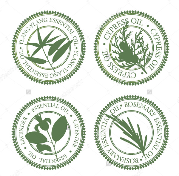 Green Hallow Essential Oil Label Templates