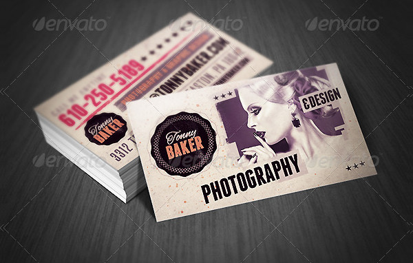 Grunge Artistic Business Card Template