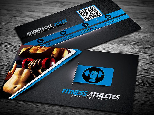 25  fitness business card templates