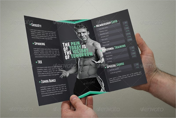 Tri-Fold Fitness Trainer Brochure Template