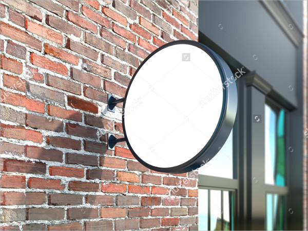 Hanging Wall Shop Sign Mockup