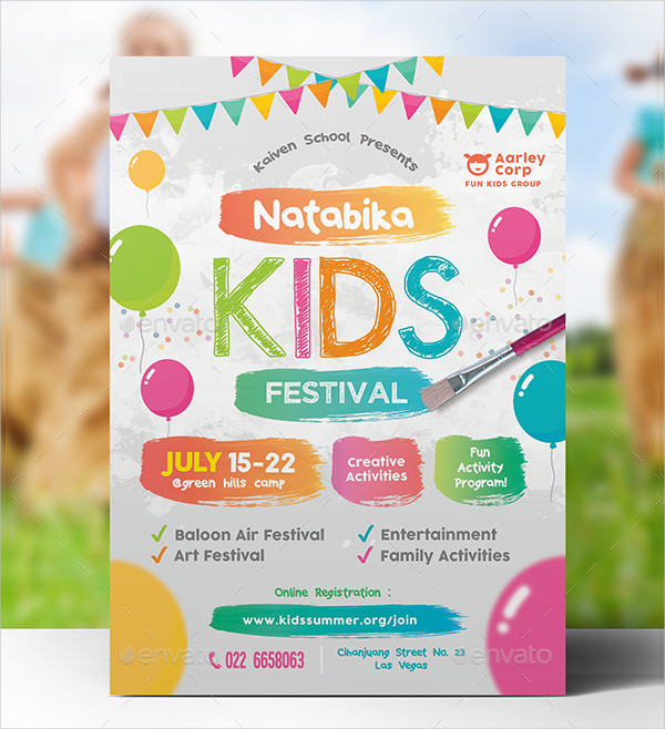 Perfect Kids Festival Flyer Template