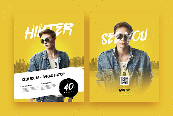 Hinter Lifestyle Advertising Magazine Template