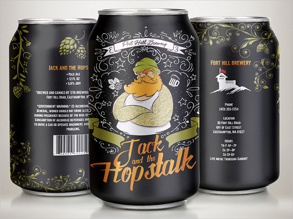 Hipster Beer Can Mockups