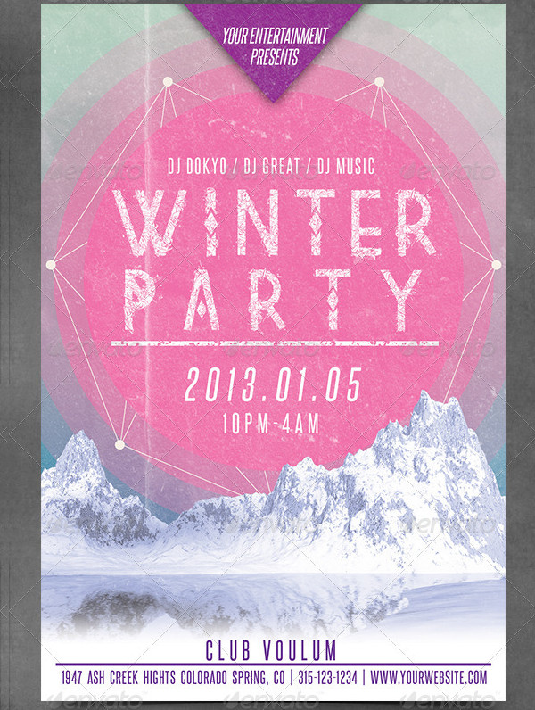 Winter Holiday's Party Flyer