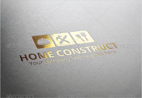 Home Construct Logo Template