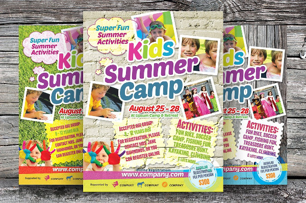 Clean Kids Summer Camp Flyers