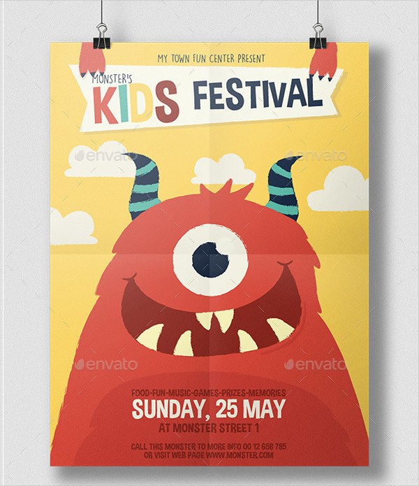Kids Monster Festival Flyer Template