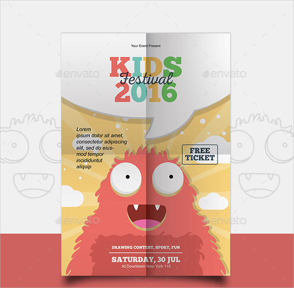 Kids Painting Festival Flyer Template