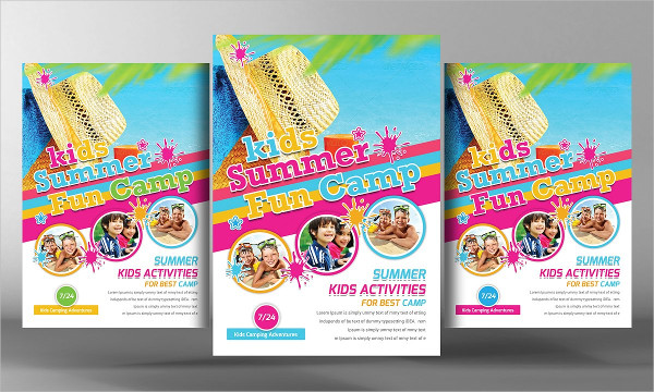 summer camp brochure template free download - 25 kids summer camp flyer templates free premium download