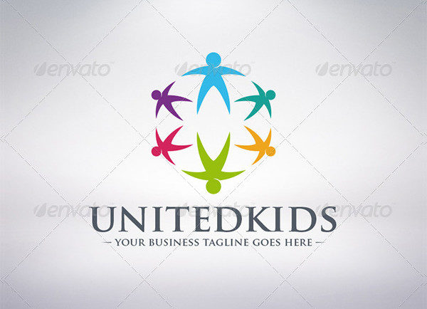 Kids World Connection Logo Template