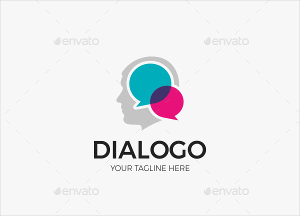 Man Social Communication Logo Template