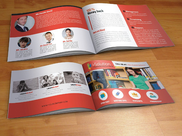 Editable Education Bi-Fold Brochure