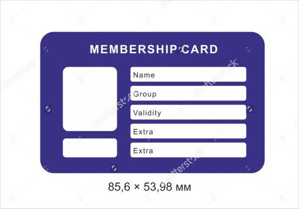 Amazing Template For Membership Cards For Membership Card Template