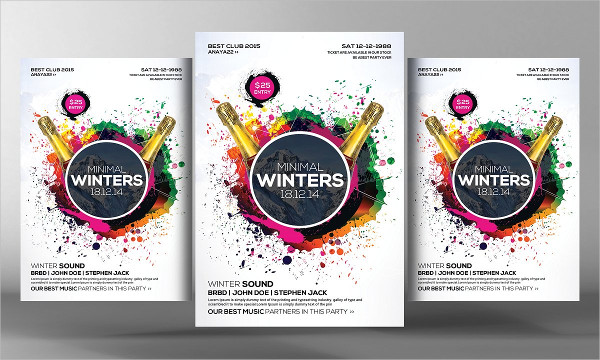 Minimal Winters Party Flyer Template