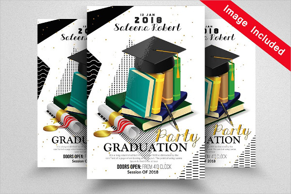 Clean Graduation Party Flyer Template