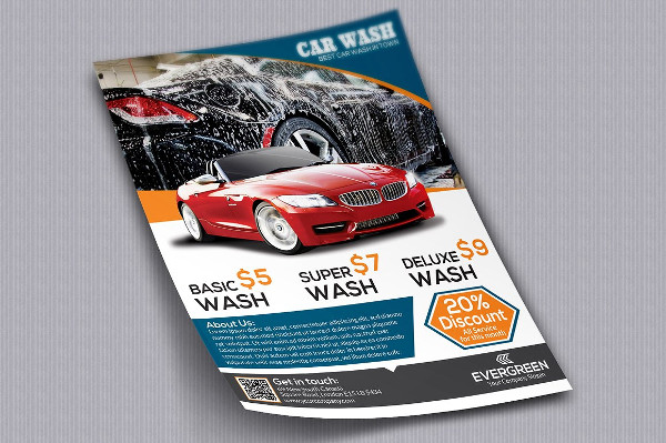 Modern Car Wash Flyer