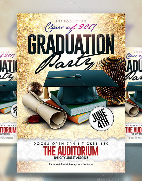 Perfect Modern Graduation Party Flyer Template