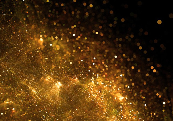 Free Golden Particles Background