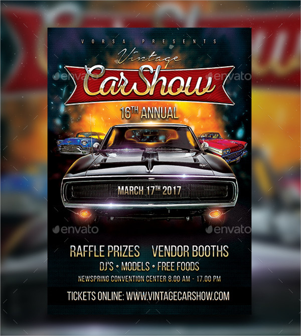 Car Show Flyer Templates  Free Psd Ai Eps Format Download
