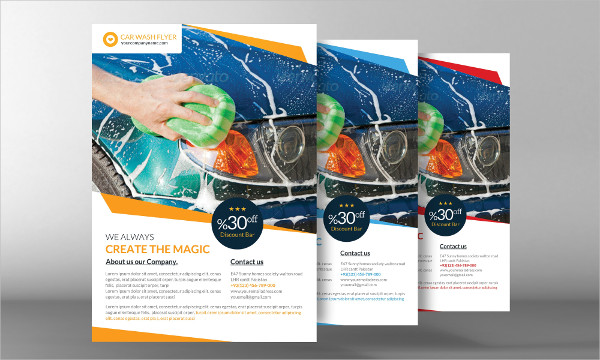 Beautiful Car Washing Flyer Template