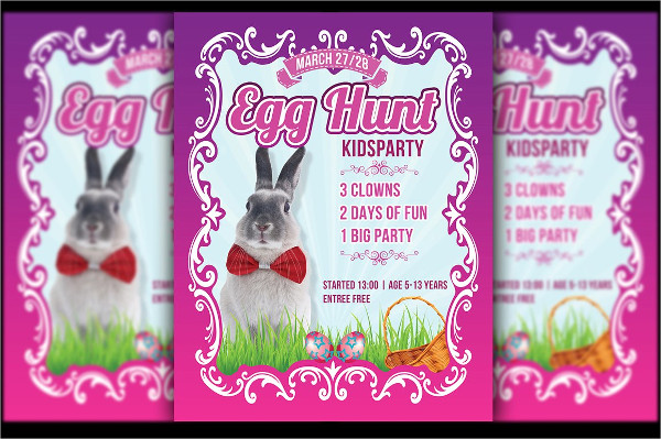 Egg Hunt Festival Flyer Template