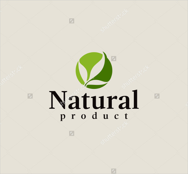 Natural product logo design PowerPoint Templates