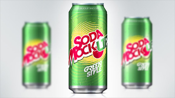 Free PSD Soda Can Mock-Up Template