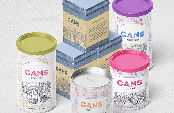 Packaging Can Mockup