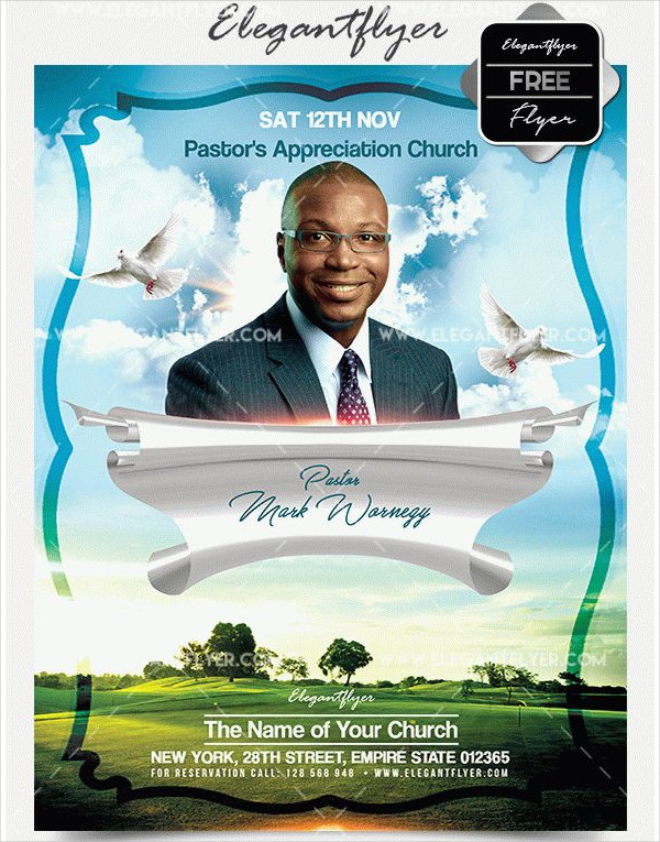 Free Pastor Appreciation Flyer Template