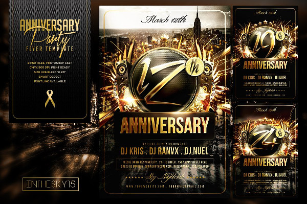 Perfect Anniversary Flyer Template