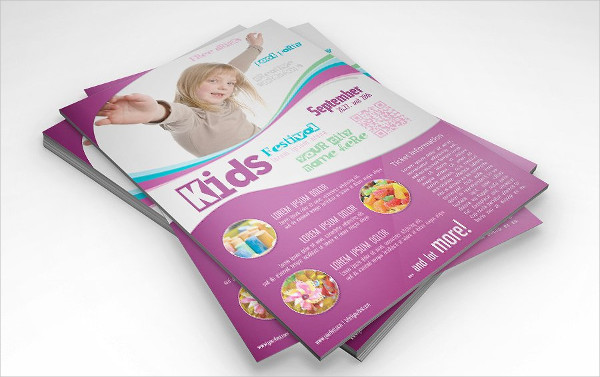 Kids Festival Celebration Flyer Template