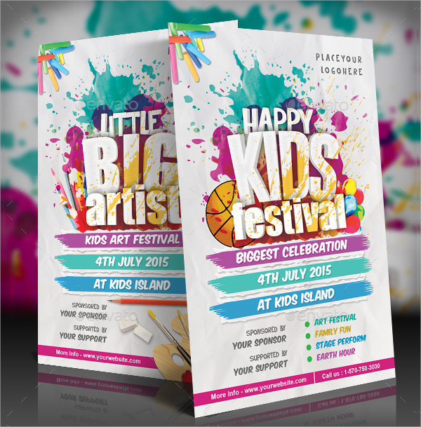 Best Kids Festival Flyer Template