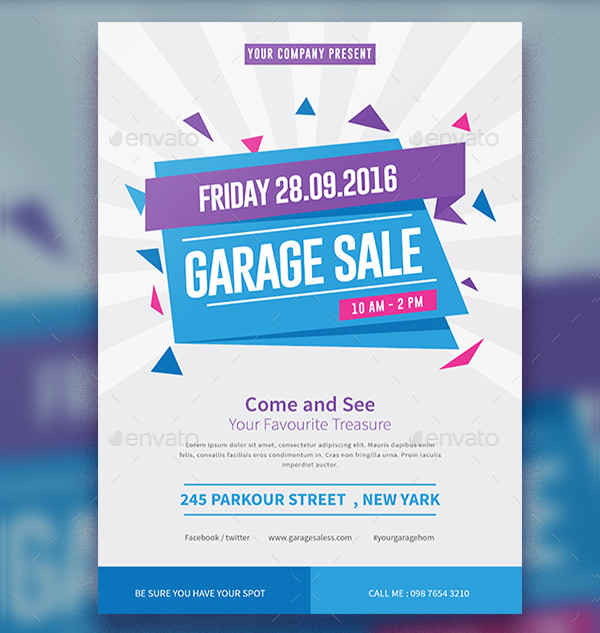 Garage Sale Flyer Templates  Free  Premium Download