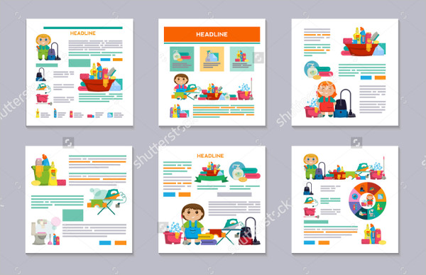 Printable Cleaning Services Flyers Bundle