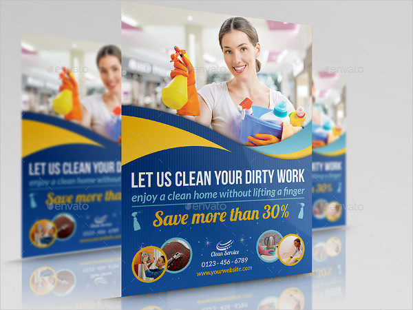 Sparkling Cleaning Services Flyer Template
