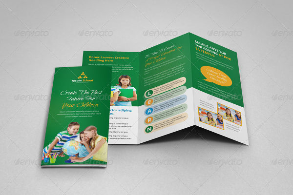 Ready to Print School Education Brochure