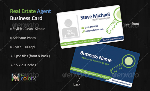 Clean Real Estate Agent Business Card Template