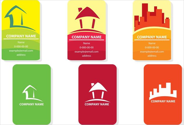 Free Real Estate Visiting Card Vector Designs