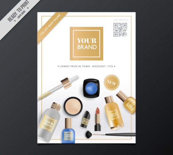 Realistic Beauty Products Flyer Free