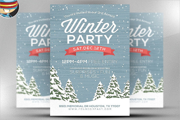 Winter Party Flyer Templates  Free Psd Ai Eps Format Download