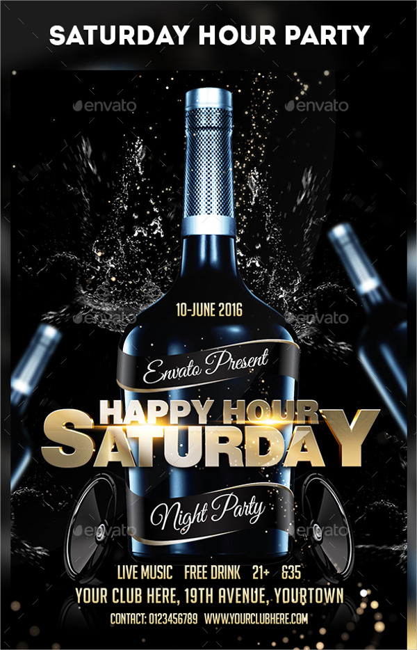 23  weekend party flyer templates