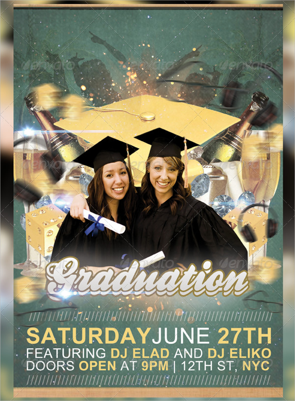Print Ready Graduation Party Flyer Template