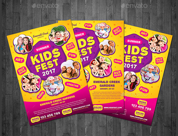 School Kids Festival Flyer Template